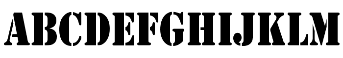 Army Thin Font UPPERCASE