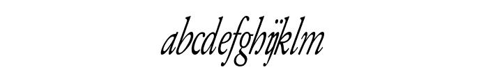 Army of Darkness Italic Font LOWERCASE