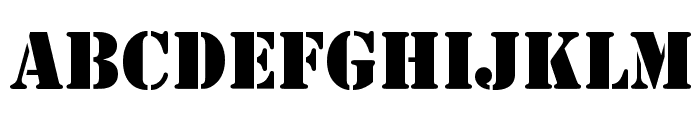 Army Font UPPERCASE