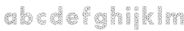 Aroly Font LOWERCASE