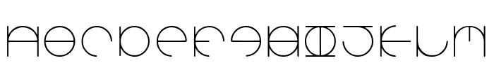 Aroundabout-Regular Font LOWERCASE