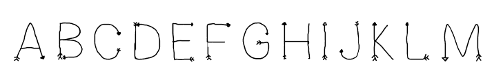 Arrowesque Font UPPERCASE