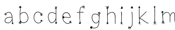 Arrowesque Font LOWERCASE