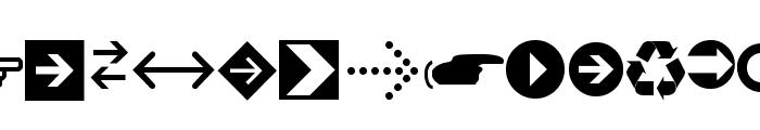 Arrows tfb Font UPPERCASE