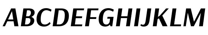 Arsenal Bold Italic Font UPPERCASE