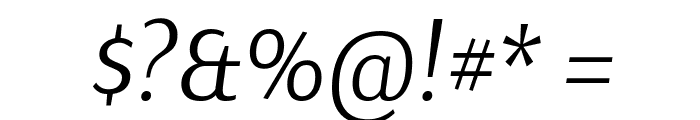 Arsenal Italic Font OTHER CHARS