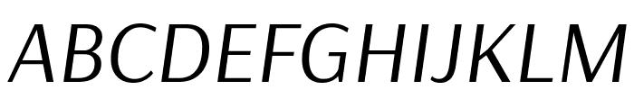Arsenal Italic Font UPPERCASE