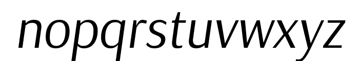 Arsenal Italic Font LOWERCASE