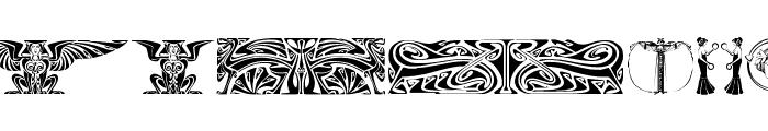 Art Noveau Headers Font LOWERCASE