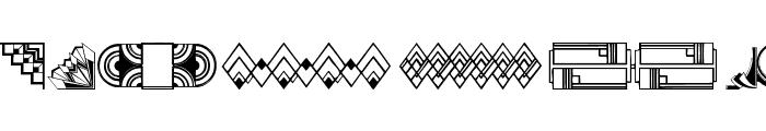 ArtDeco Motif Font LOWERCASE