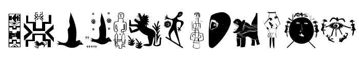 ArteAfrique Font LOWERCASE
