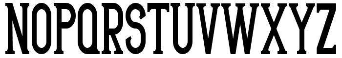 ArteriaCondensed Font UPPERCASE