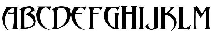 Arthur Gothic Font UPPERCASE