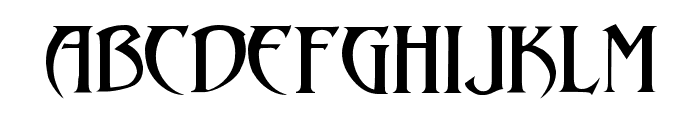 Arthur Gothic Font LOWERCASE