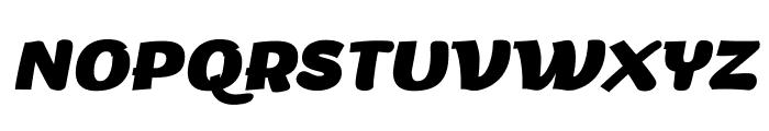 Arturo Trial ExtraBold Italic Font UPPERCASE