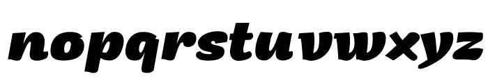 Arturo Trial ExtraBold Italic Font LOWERCASE