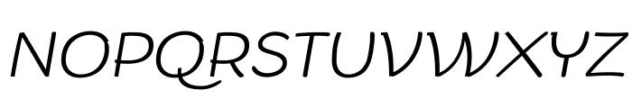 Arturo Trial ExtraLight Italic Font UPPERCASE