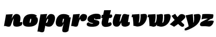 Arturo Trial Heavy Italic Font LOWERCASE