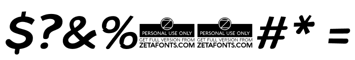 Arturo Trial Italic Font OTHER CHARS