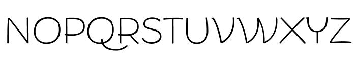 Arturo Trial Thin Font UPPERCASE