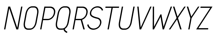Arvin Light Italic Font UPPERCASE