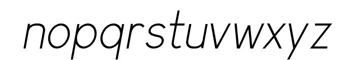 Arvin Light Italic Font LOWERCASE