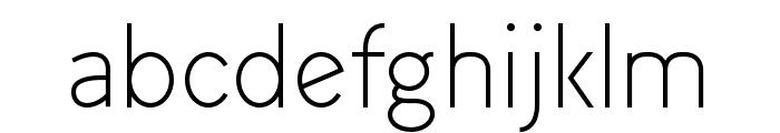 Arvin Light Font LOWERCASE
