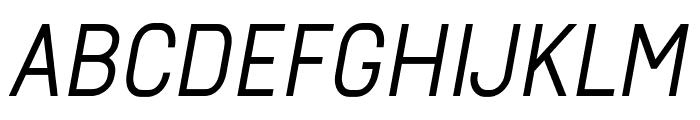 Arvin Regular Italic Font UPPERCASE