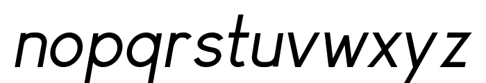 Arvin Regular Italic Font LOWERCASE
