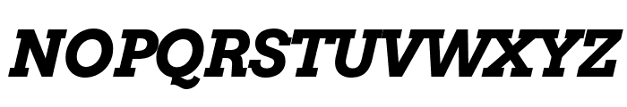 Arvo Bold Italic Font UPPERCASE