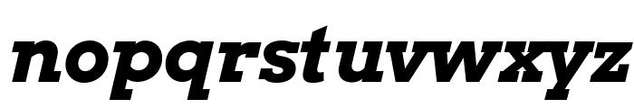 Arvo Bold Italic Font LOWERCASE