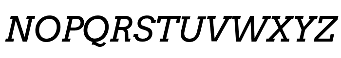 Arvo-Italic Font UPPERCASE