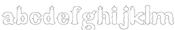 arab saenz3 Font LOWERCASE