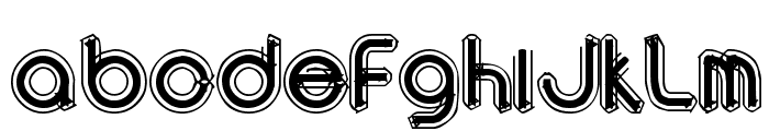 area OUTLINEe Font UPPERCASE