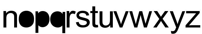 aria solid Regular Font LOWERCASE