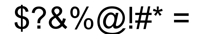 Arial Unicode MS Font OTHER CHARS