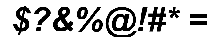 Arial Bold Italic Font OTHER CHARS