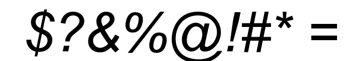 Arial Italic Font OTHER CHARS