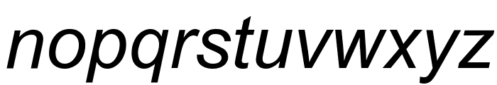 Arial Italic Font LOWERCASE