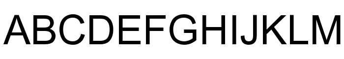 Arial Font UPPERCASE