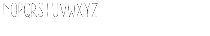 Aracne Condensed Stamp Light Font LOWERCASE