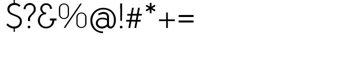 Aramis Light Font OTHER CHARS