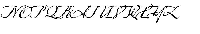 Arcana GMM Manuscript Font UPPERCASE