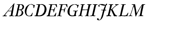 Archetype Italic Font UPPERCASE
