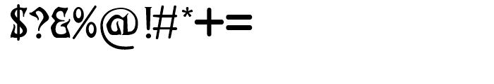 Archibald BA Regular Font OTHER CHARS