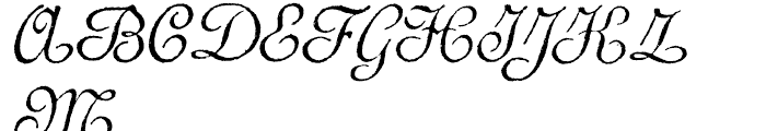 Archive French Script Font UPPERCASE
