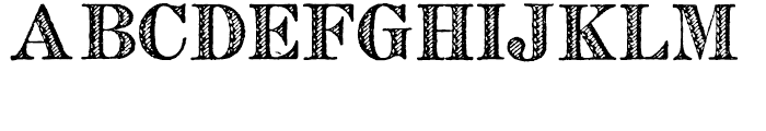 Archive French Shaded Font LOWERCASE