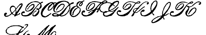 Archive Roundhand Script Font UPPERCASE