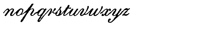 Archive Roundhand Script Font LOWERCASE
