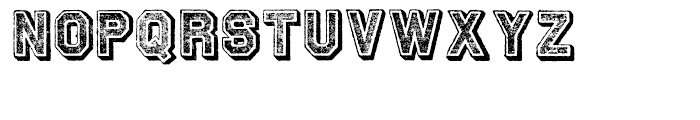 Archive Tinted Regular Font UPPERCASE